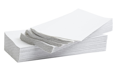 1 Fold 2ply White Hand Towels (300)