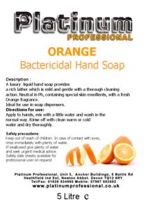 ORANGE Bactericidal Hand Soap