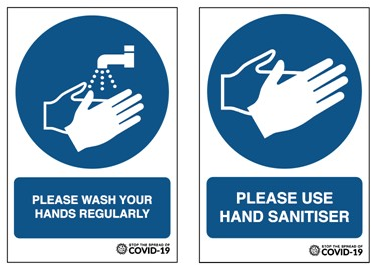 Please Wash/Sanitise Your hands Vinyl A4 Wall sticker