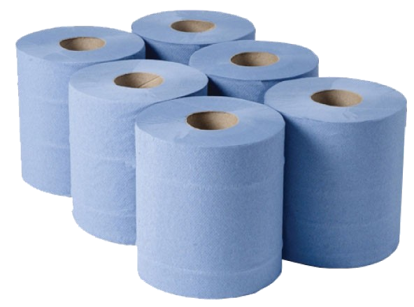 2ply Blue Centrefeed Roll (6 x 150m)