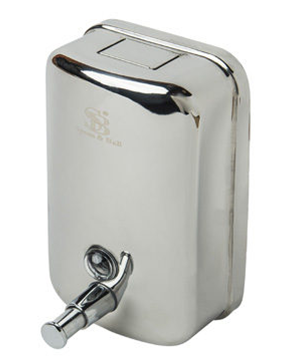 Wall Mounted S/Steel Manual Refillable Hand Soap Dispenser